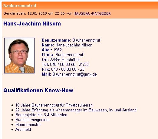 Bauherrennotruf for Hausbau forum